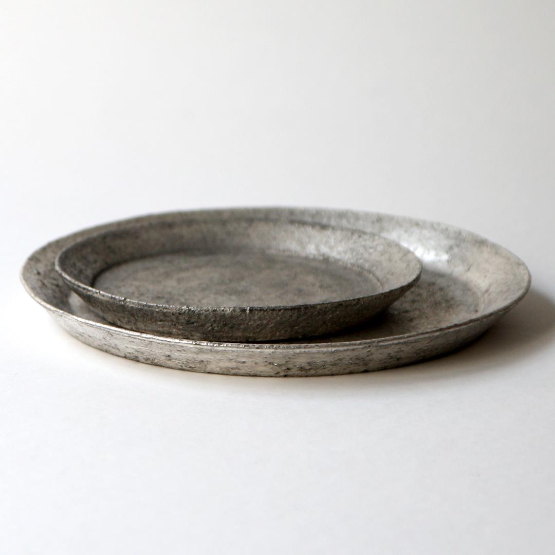 遠藤岳 Rim dish silver