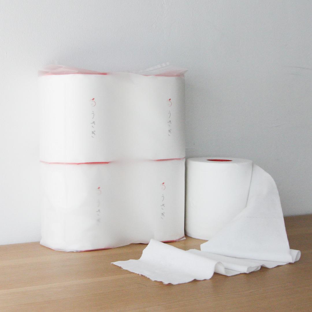 望月製紙 うさぎ トイレットペーパー 4ロールセット