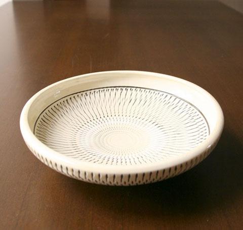 小鹿田焼 8寸菓子鉢