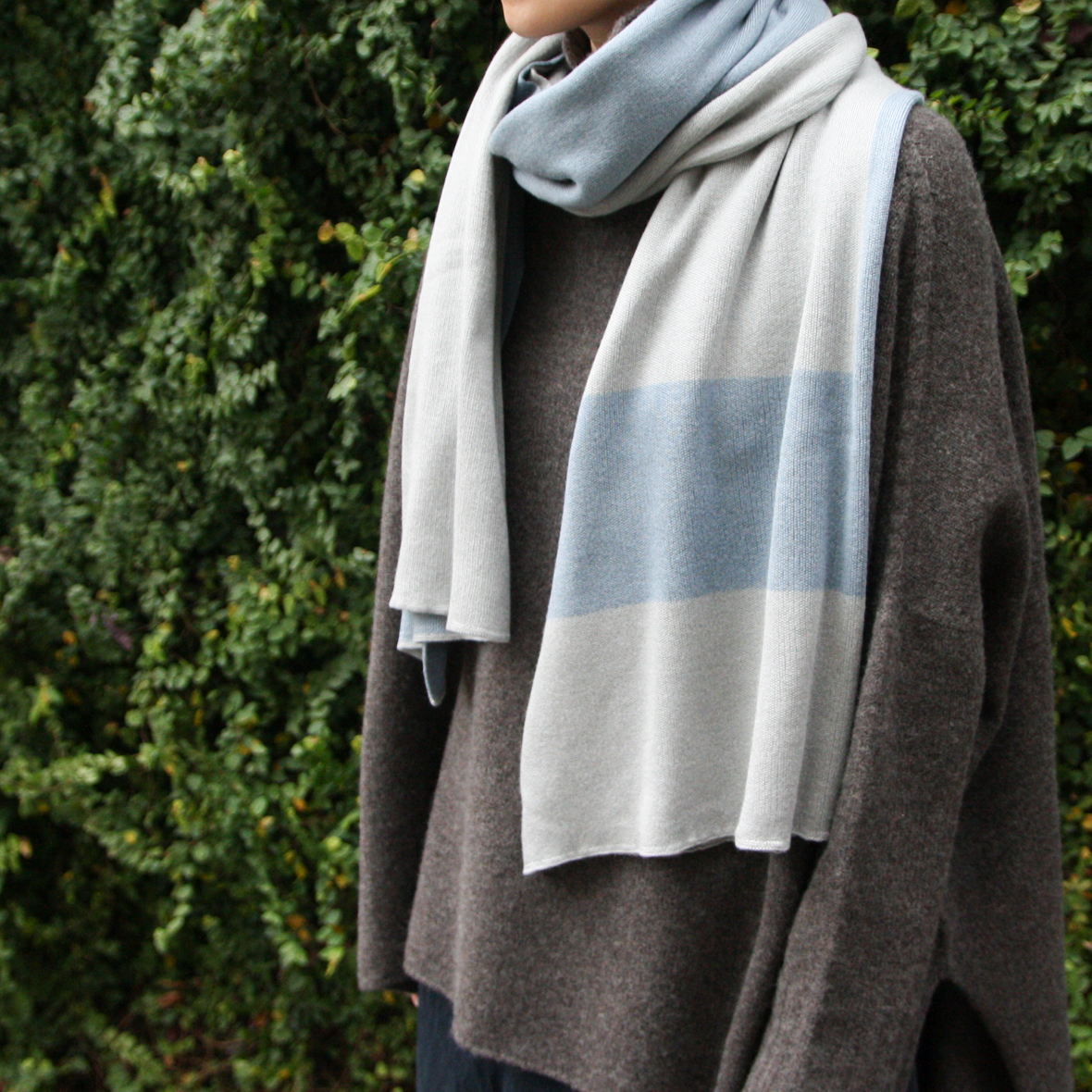 breezyblue silk knit stole