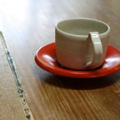 岡さんの器で頂くお茶菓子