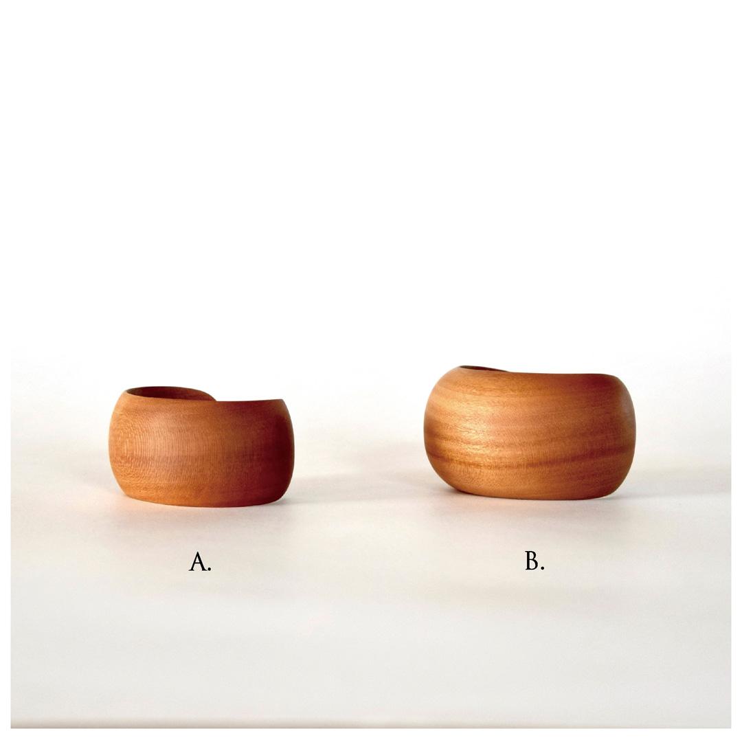 Wood cuff / ボウルカフ、ベルトカフ- 楓、もみじばふう