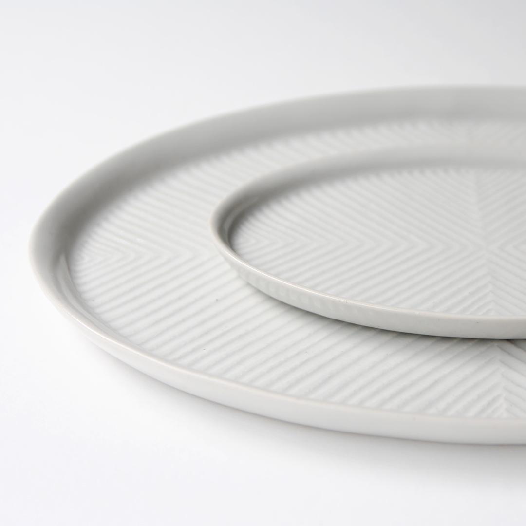阿南 維也 白磁鎬オーバル皿
