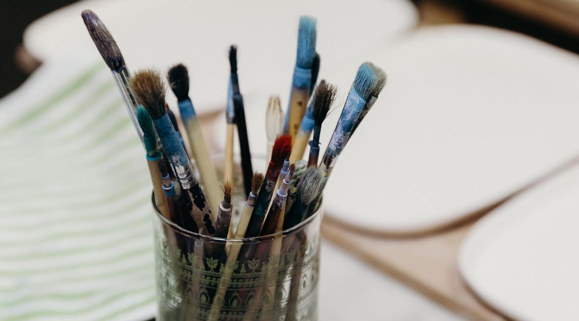絵付けの道具