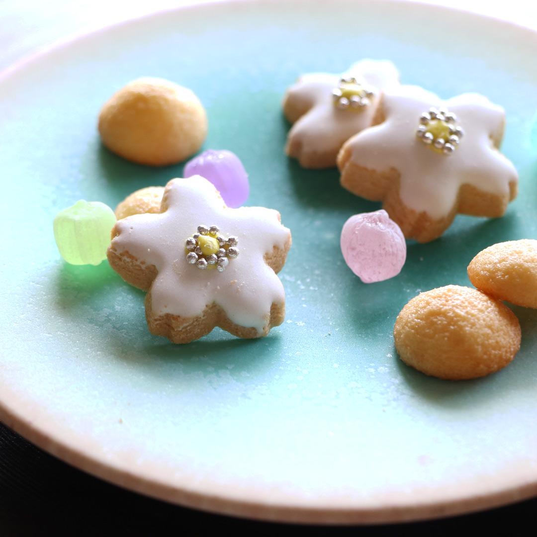 岩崎 龍二 5寸平皿 アイスグリーン+桃