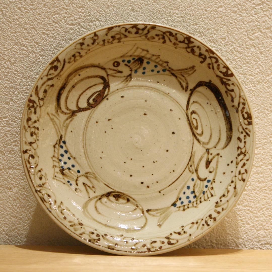 沼田 智也 魚貝文 7.5寸皿