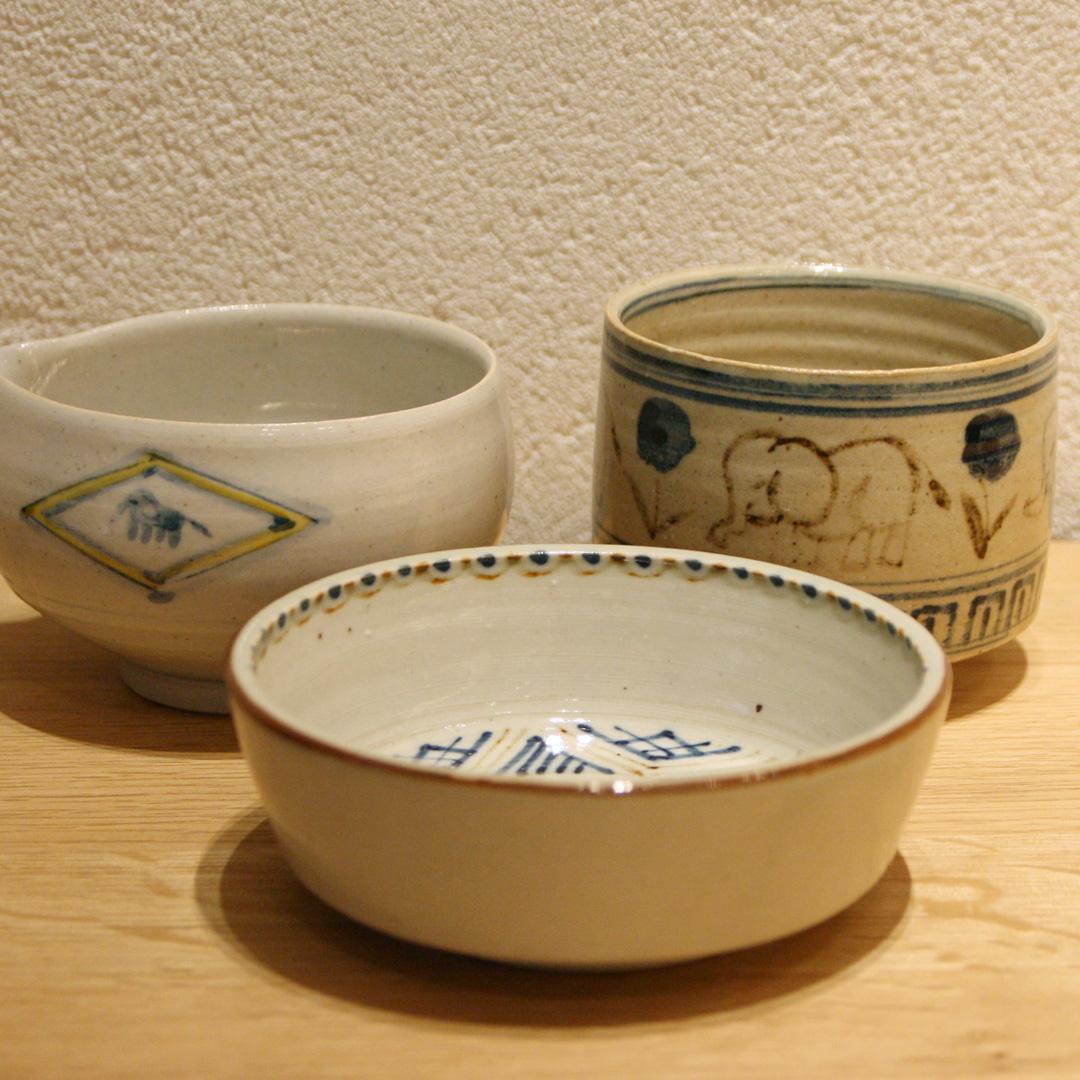 沼田 智也 片口、抹茶椀、4.5寸鉢