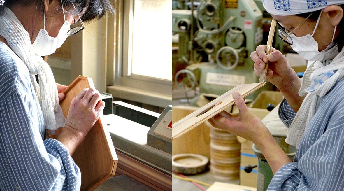多くの木工職人・工芸家が創作に励む上野村